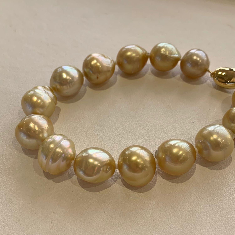 南洋ゴールド真珠ブレスレット BL-29